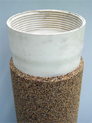 Filter pipes coated quartz sand