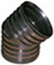 CORRUGATED HDPE  ELBOW 45°